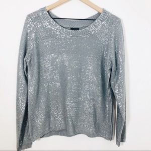 Sparkle & Fade grey & silver sweater Medium